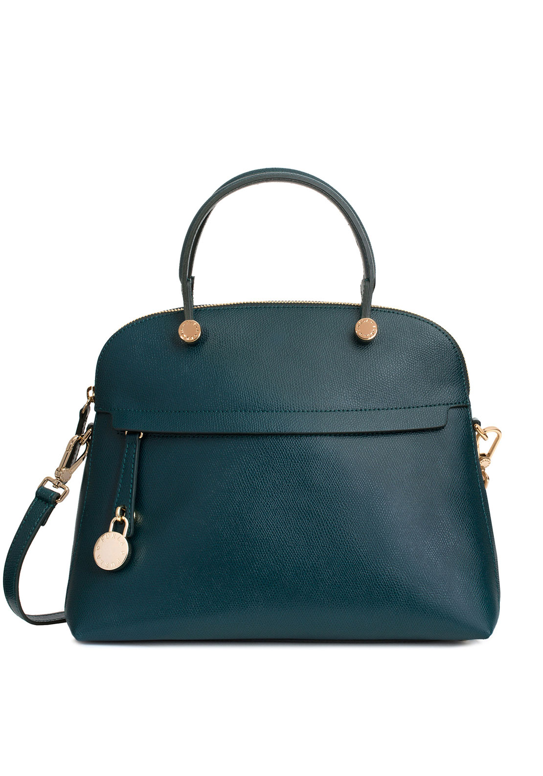 Furla Piper Top Handle Medium, Teal Green