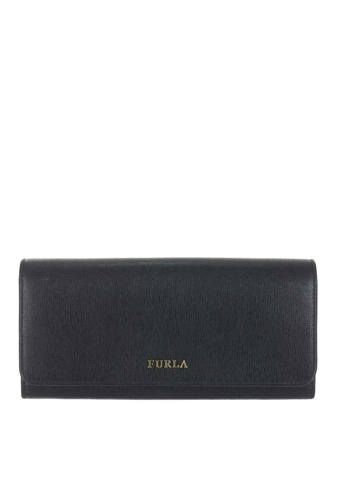 Furla Babylon Leather Drop Down Purse, Black