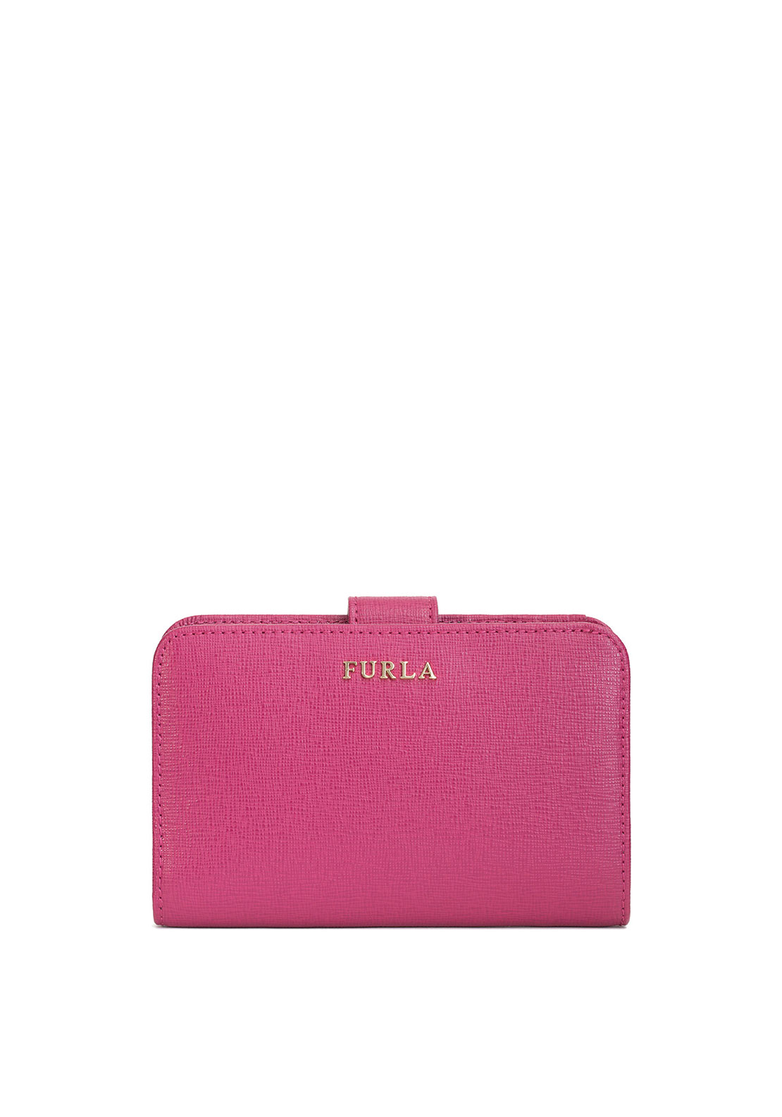 Furla Babylon Leather Fold over Purse, Pink