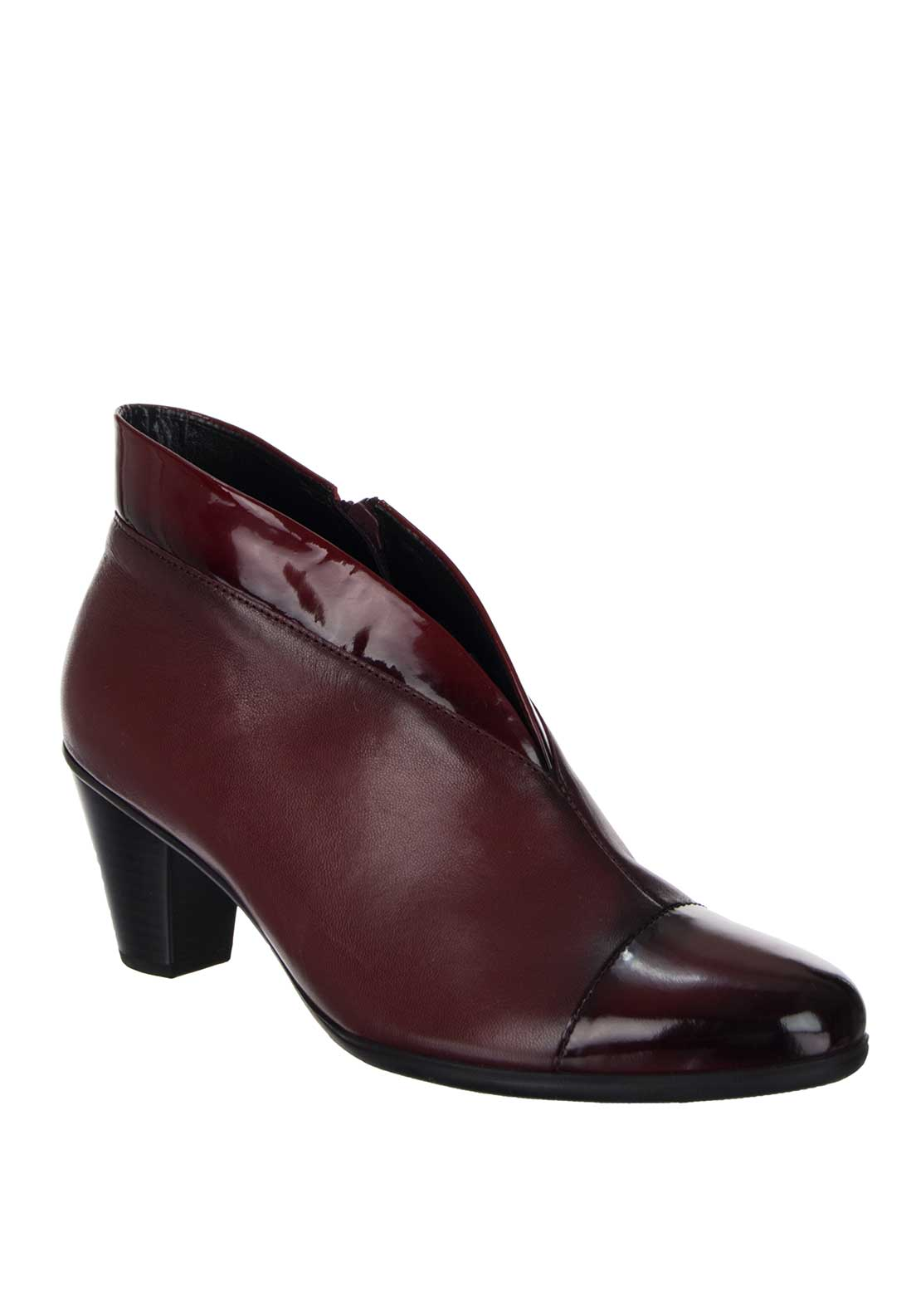 Gabor Enfield Womens Ankle Boot, Dark Red Patent