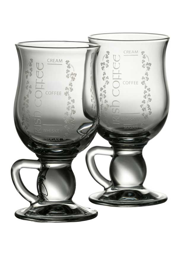 Galway Crystal Irish Coffee Glasses, set of 2