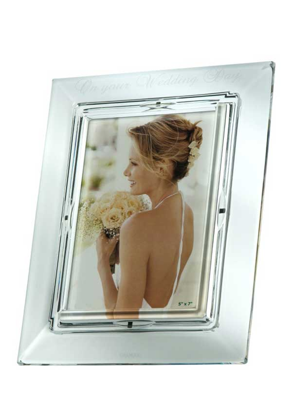 "Galway Crystal ""On Your Wedding Day"" Photo Frame"