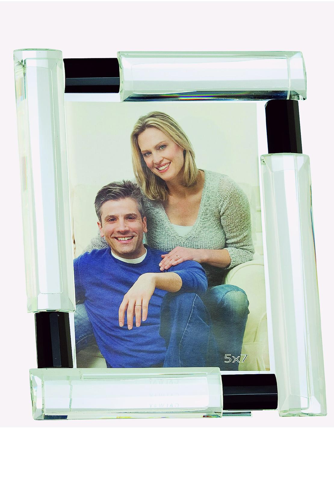Galway Crystal Deco Photo Frame, 5 x 7 inches