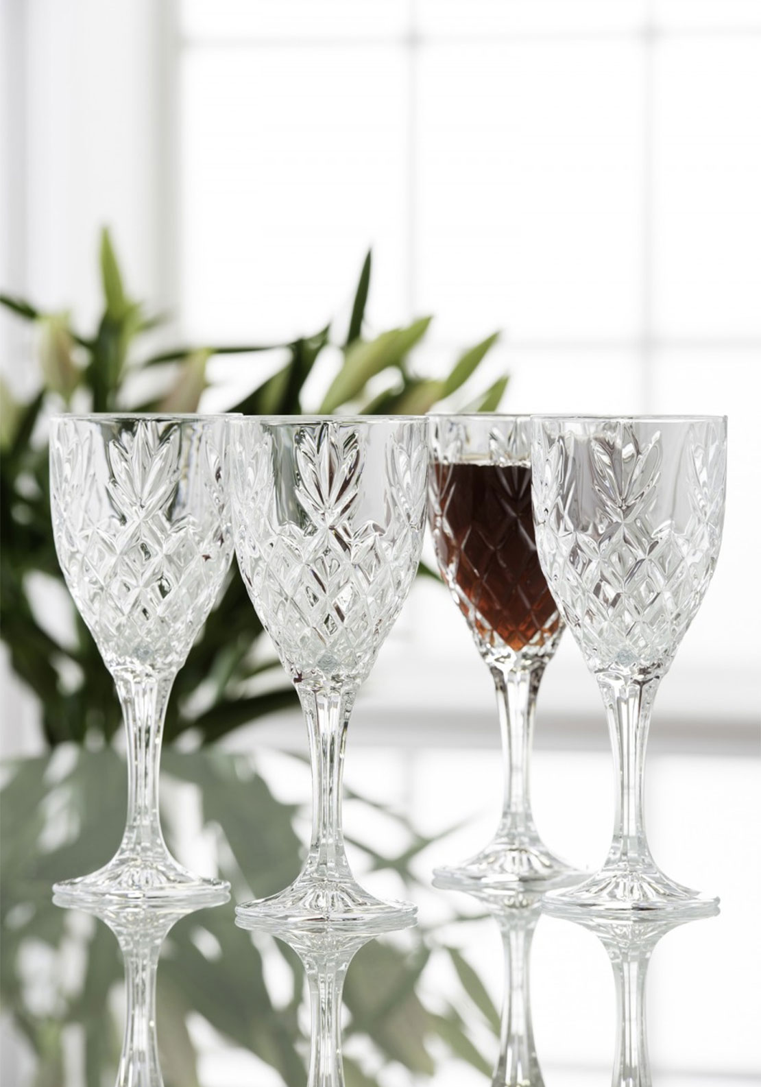 Galway Crystal Renmore Goblets Set Of 4