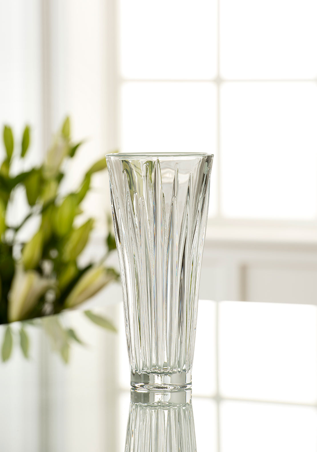 "Galway Crystal Willow 9"" Vase"