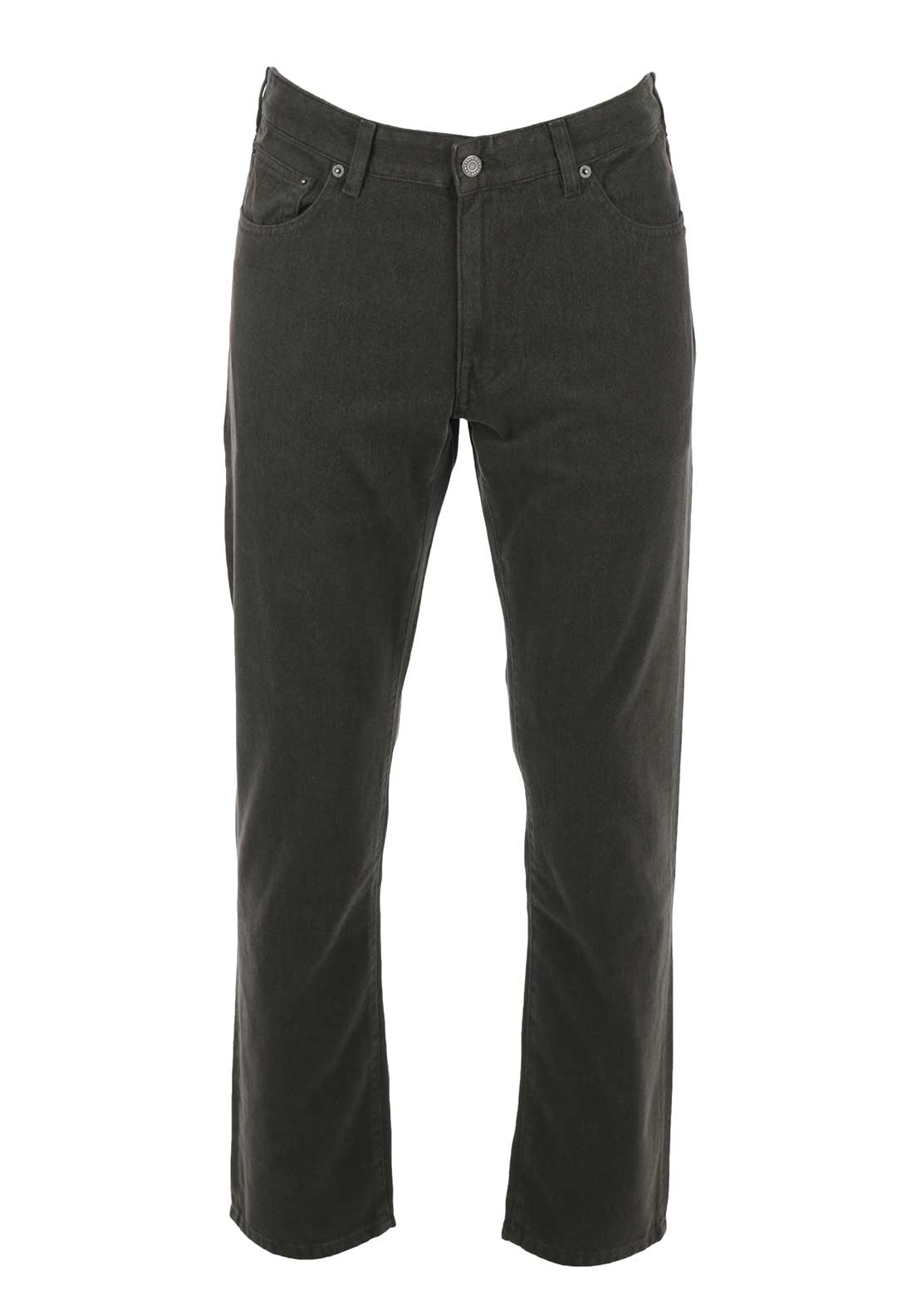 GANT Mens Regular Straight Soft Twill Jeans, Dark Brown