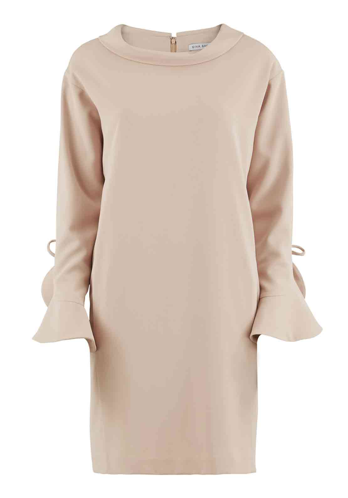 Gina Bacconi  Cropped Sleeve Tunic Dress, Apricot Pink