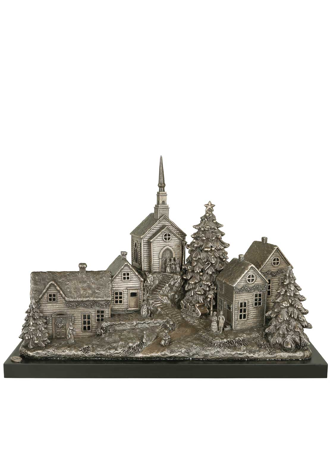 Genesis Christmas Village Large Bronze Ornament, Large