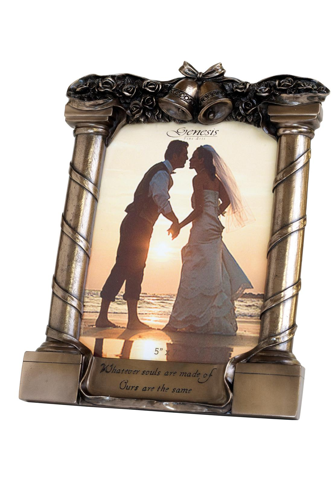 Genesis Wedding Bronze Photo Frame, 5 x 7 inches