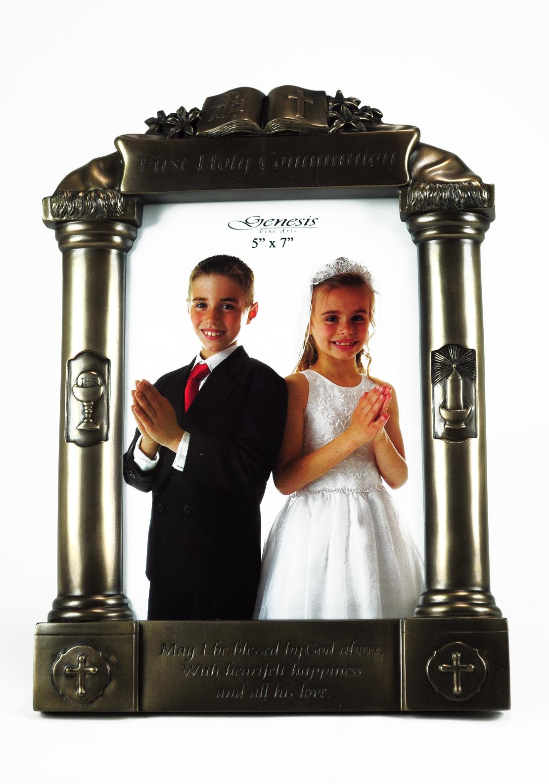 Genesis First Holy Communion Photo Frame, Bronze