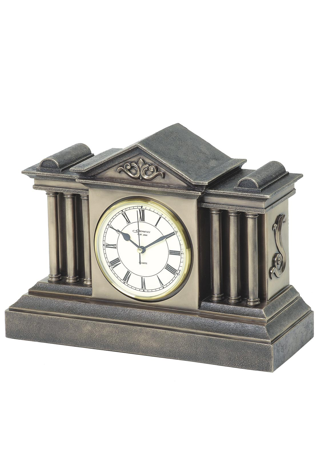 Genesis Georgian Mantle Bronze Clock