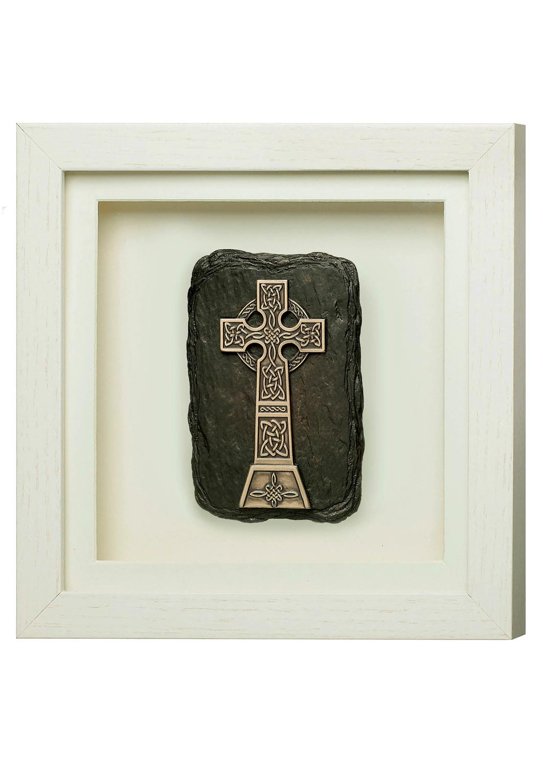 Genesis High Cross Frame White Ornament