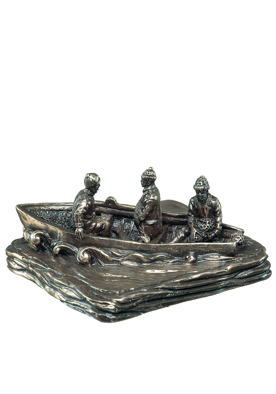 Genesis Irish Currach Ornament, Bronze