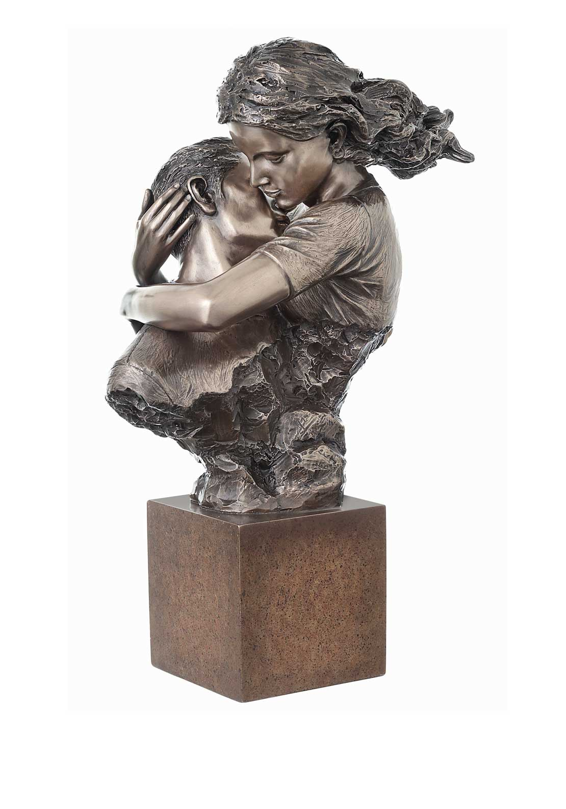 "Genesis Eternal Love Ornament Height 13"" Weight 9"", Cast Bronze"