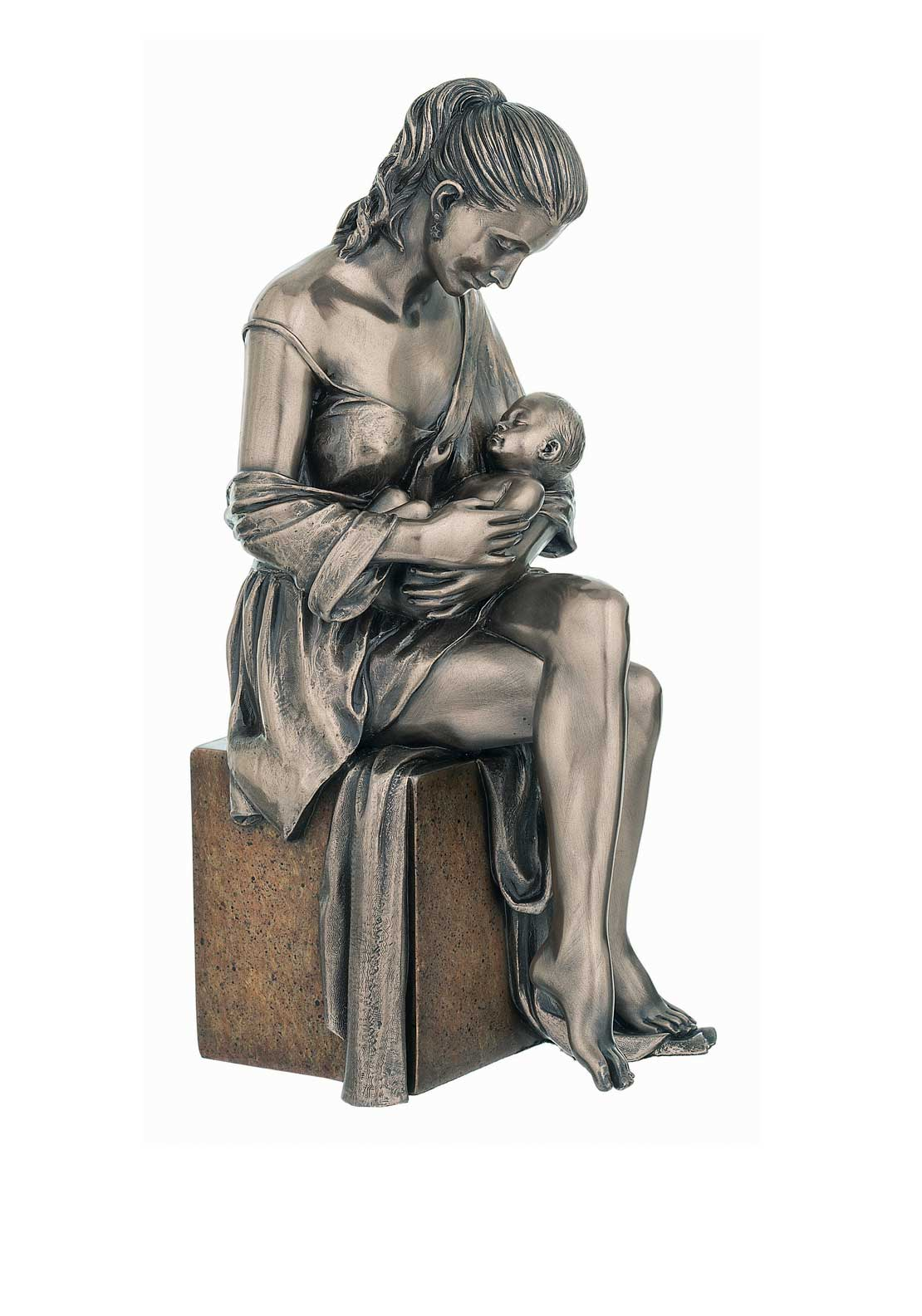 "Genesis Maternal Love Ornament 9.25""Height, Cast Bronze"