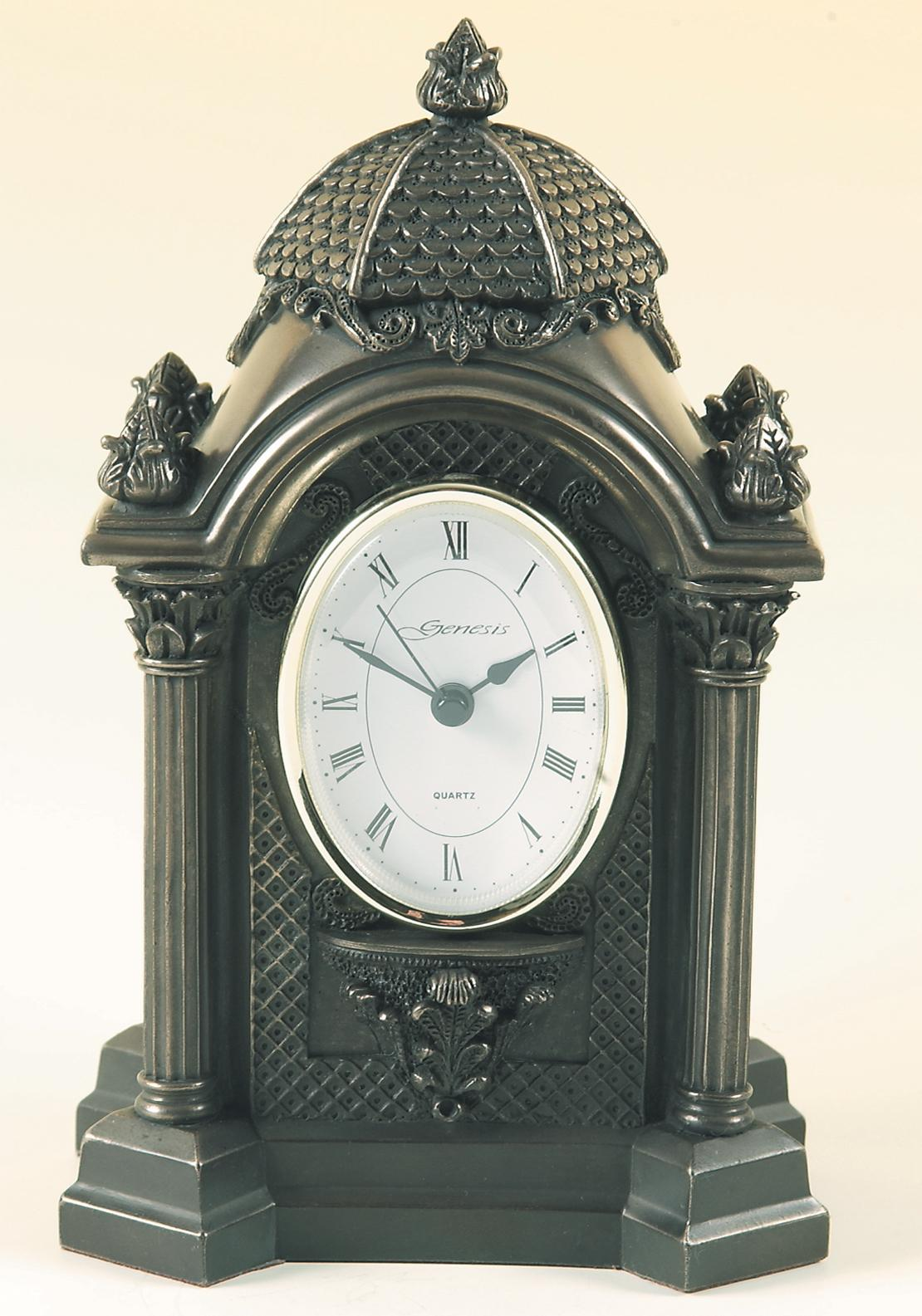 Genesis Oval Clock, Bronze