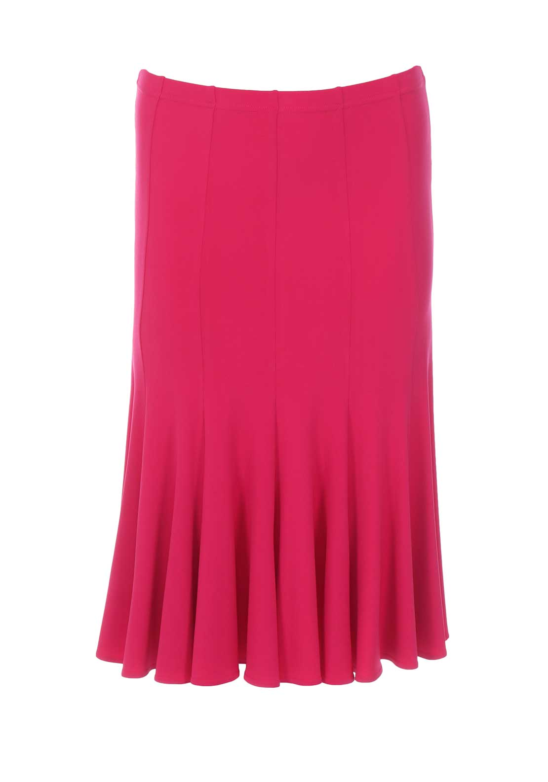 Georgede Flared Midi Skirt, Fuschia Pink