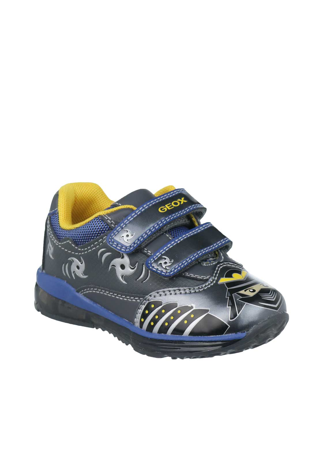 Geox Baby Boys Light Up Trainers, Grey