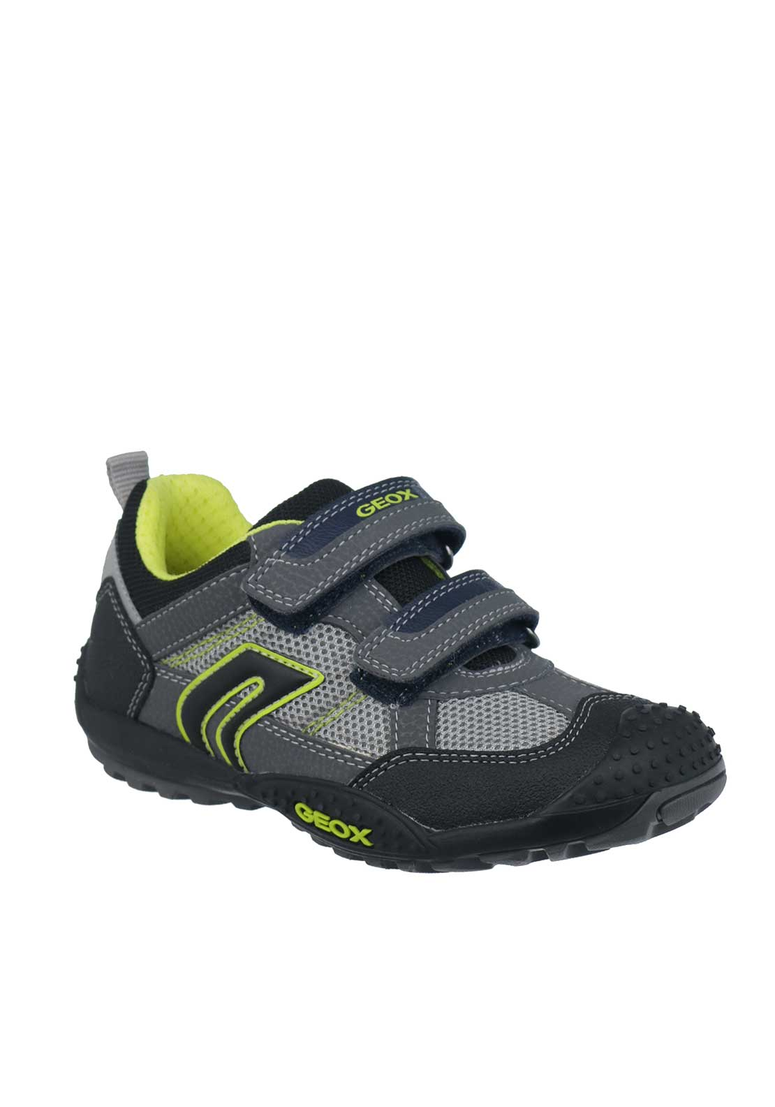 Geox Boys Velcro Strap Trainers, Grey