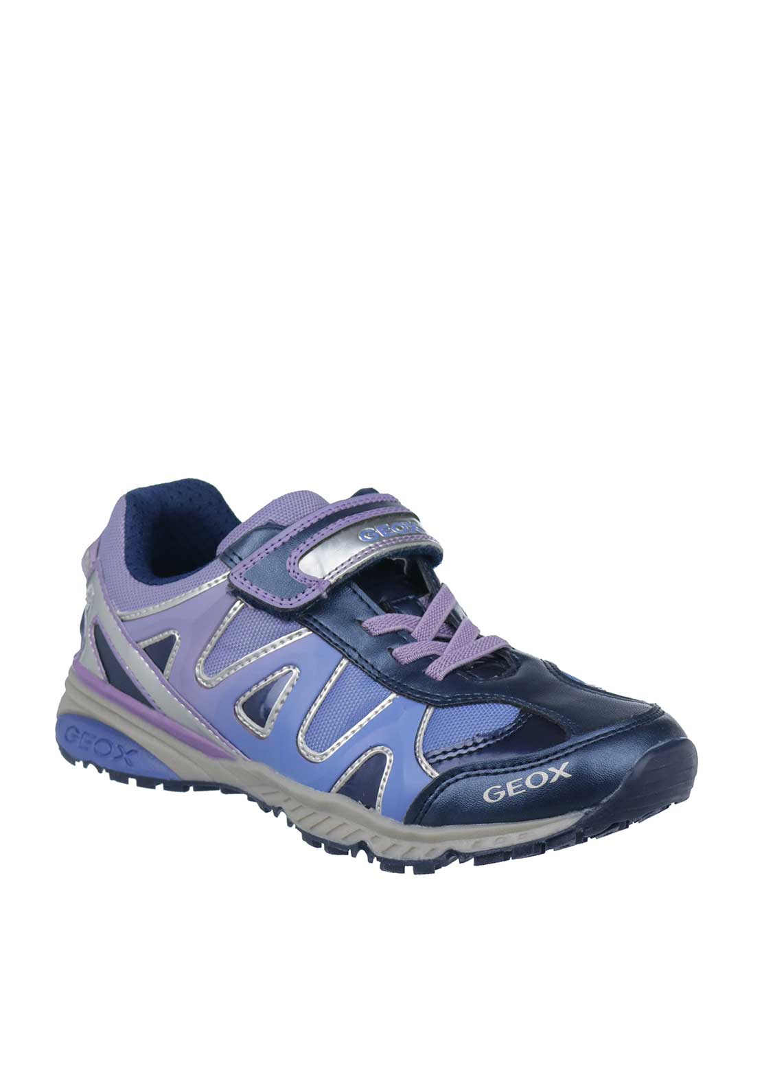 Geox Girls Velcro Strap Trainers, Blue