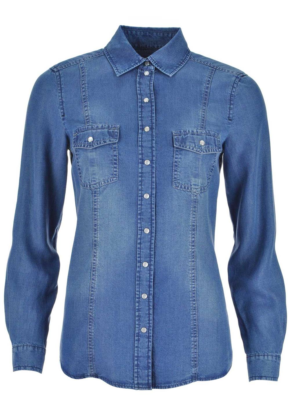 Gerry Weber Long Sleeve Denim Shirt, Blue