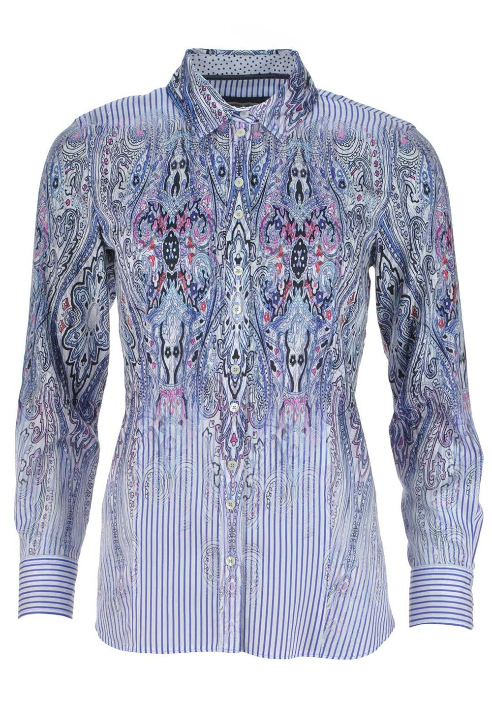 Gerry Weber Long Sleeve Baroque Print Blouse, Blue
