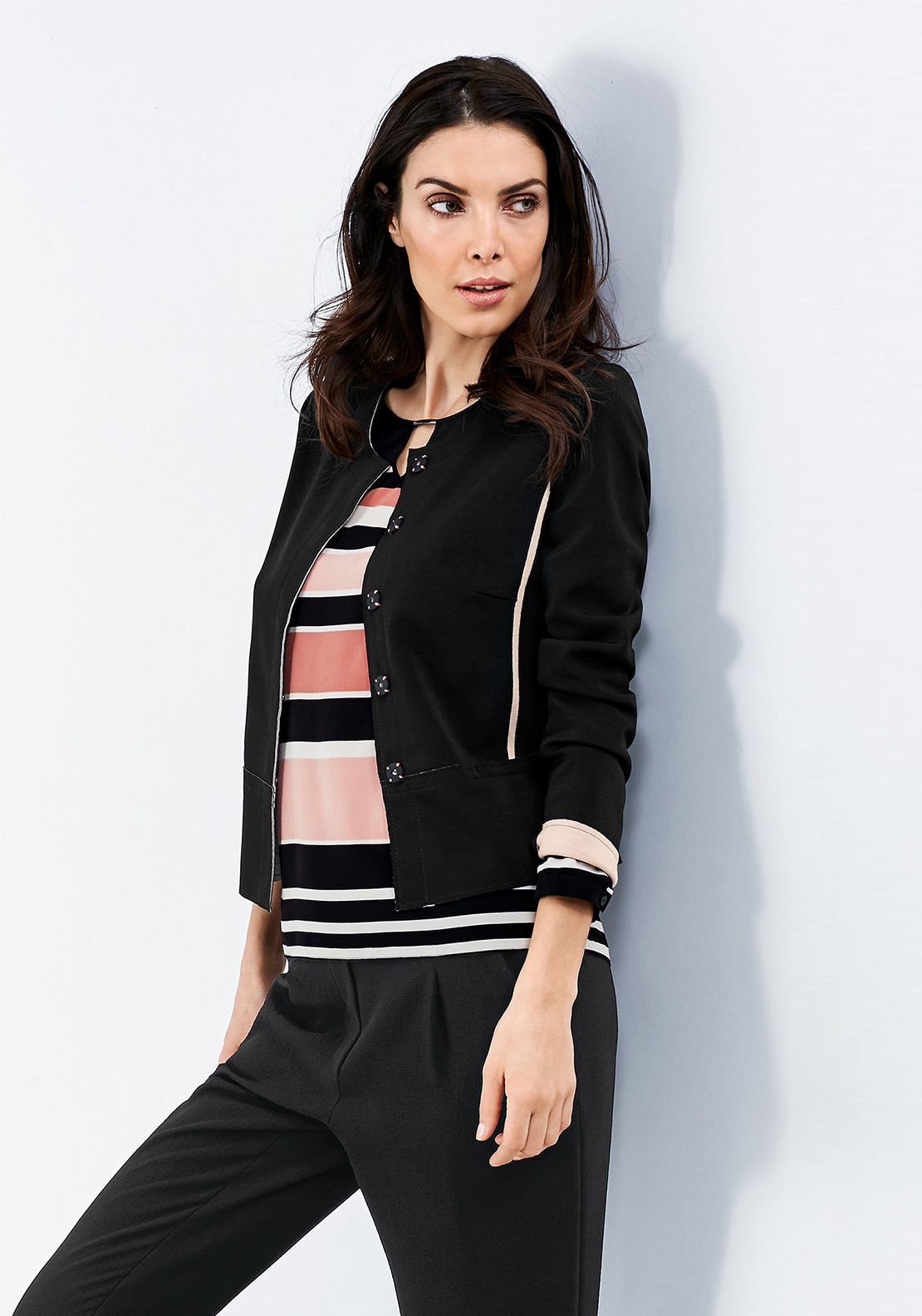 Gerry Weber Cut Out Trim Jacket, Black