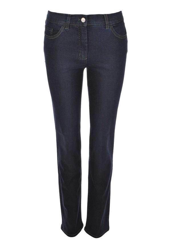 Gerry Weber Romy Fade Out Straight Leg Jeans, Navy Denim
