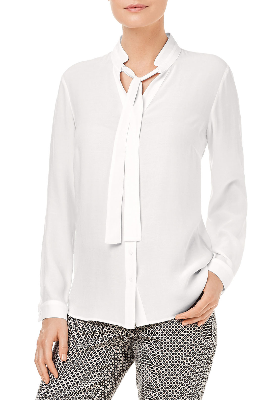 Gerry Weber Pussybow Blouse, White
