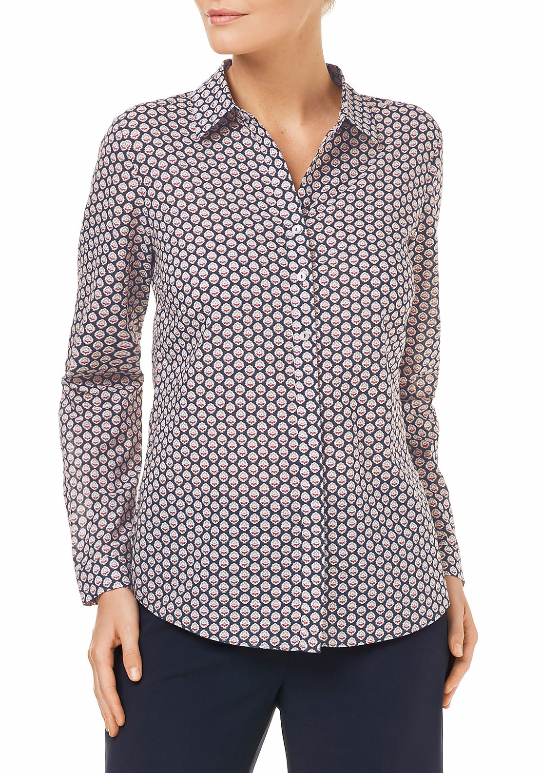 Gerry Weber Printed Blouse, Navy Multi