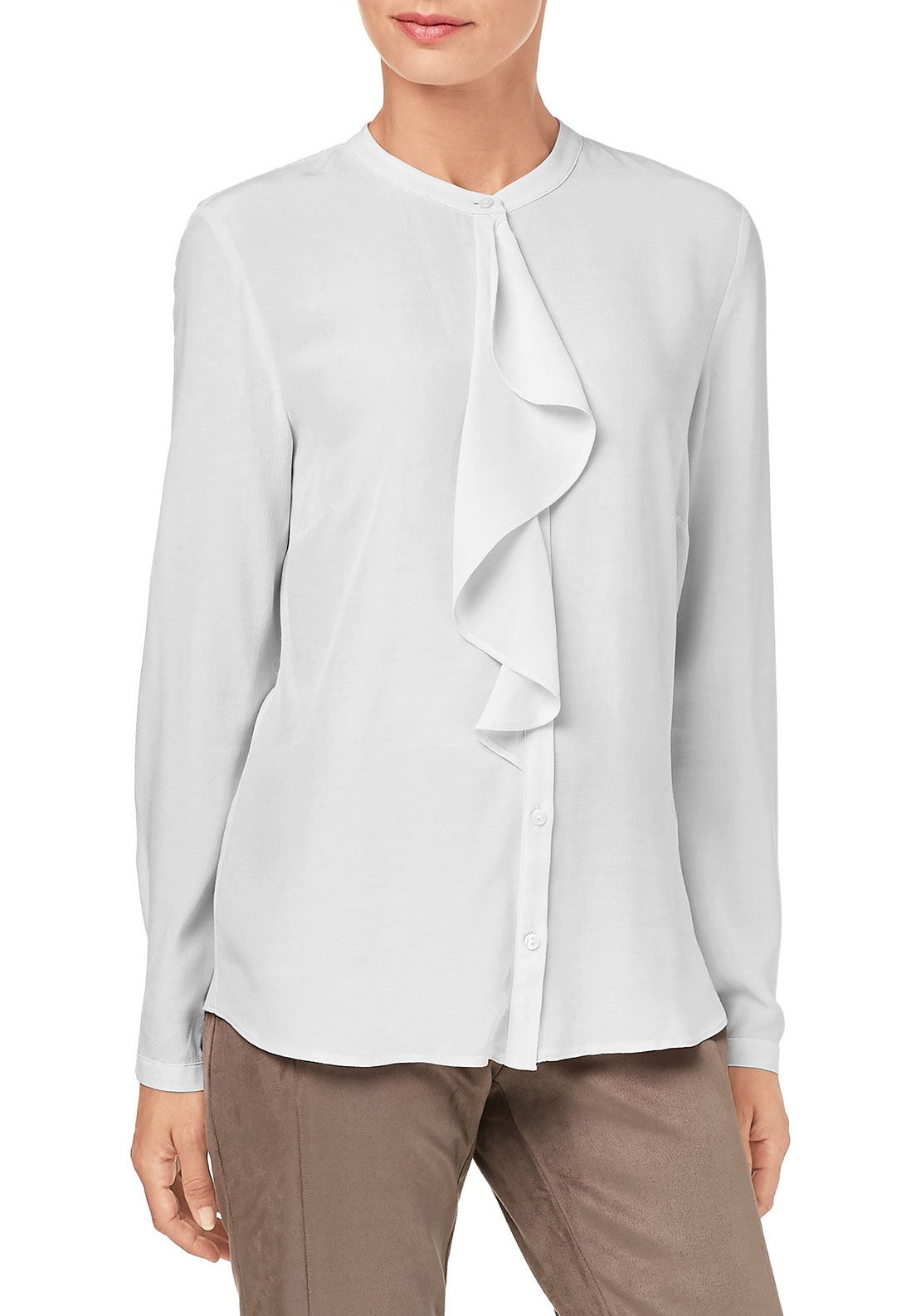 Gerry Weber Ruffle Trim Blouse, White