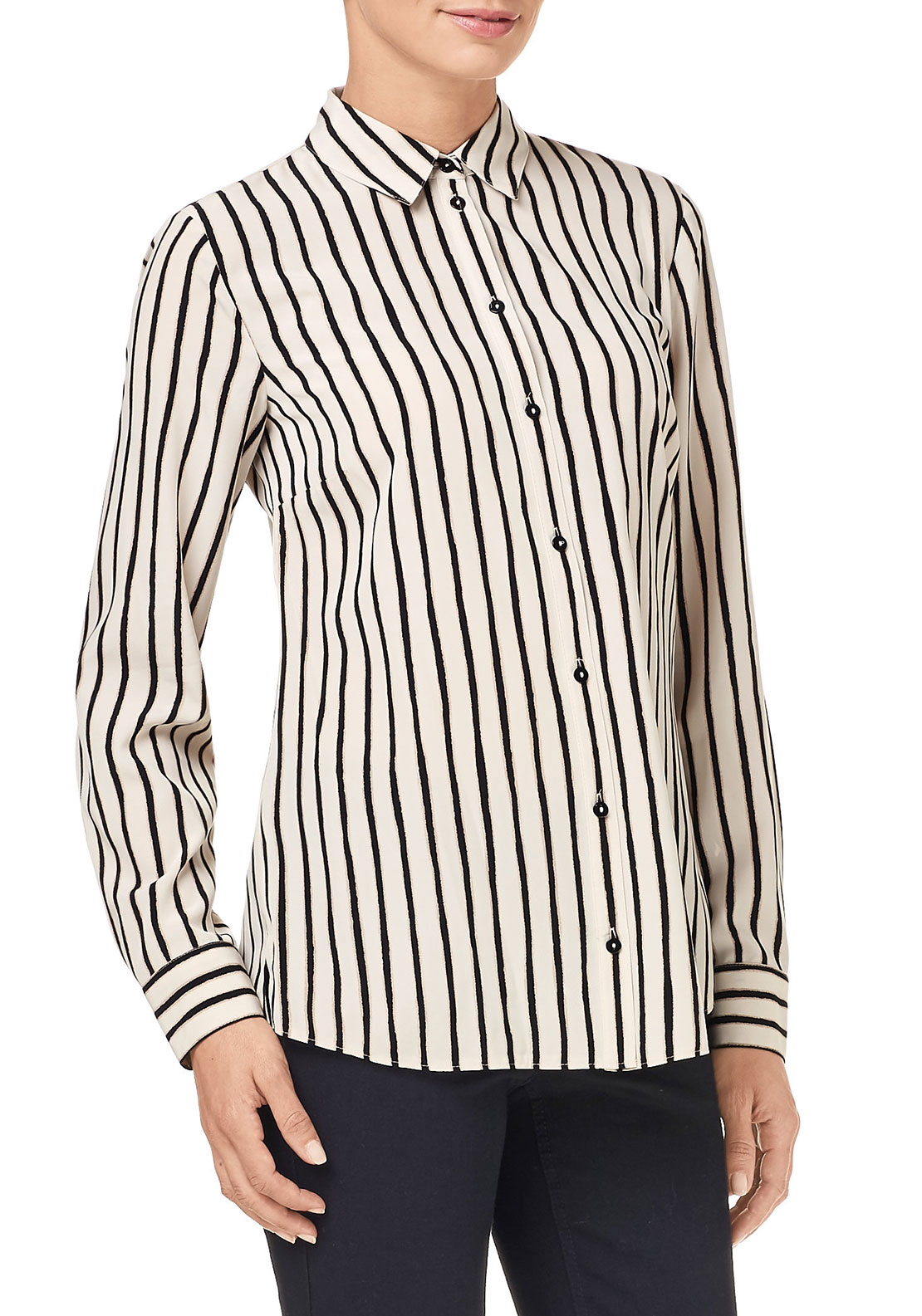 Gerry Weber Striped Blouse, Cream