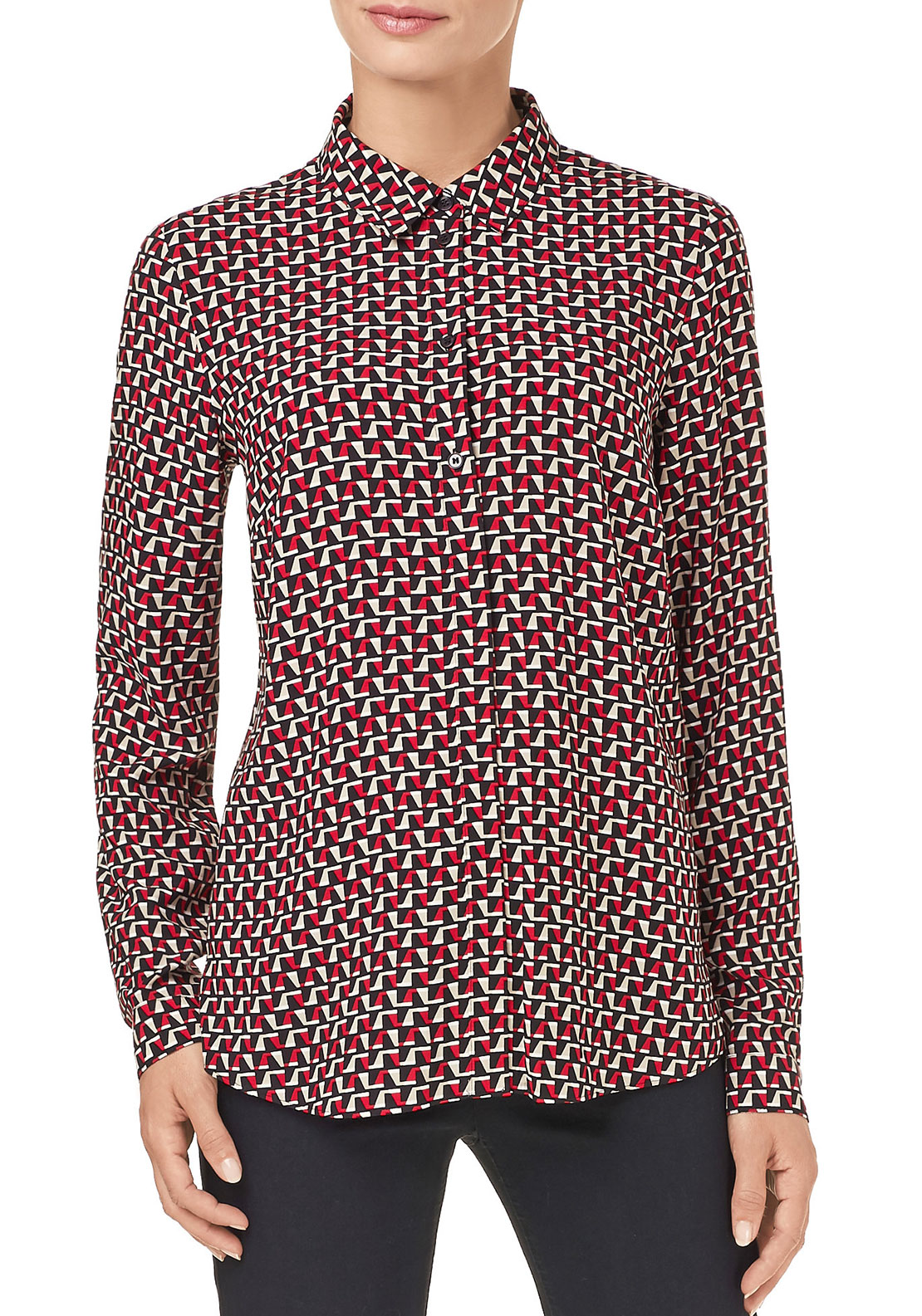 Gerry Weber Geometric Print Blouse, Red Multi