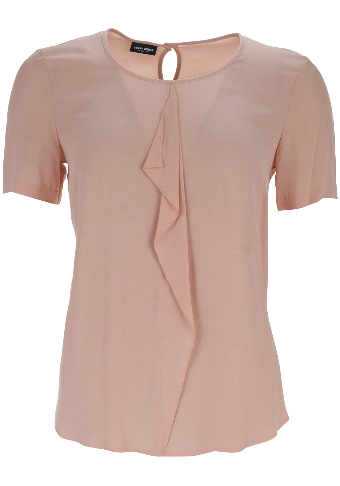 Gerry Weber Ruffle Trim Crepe Top, Peach