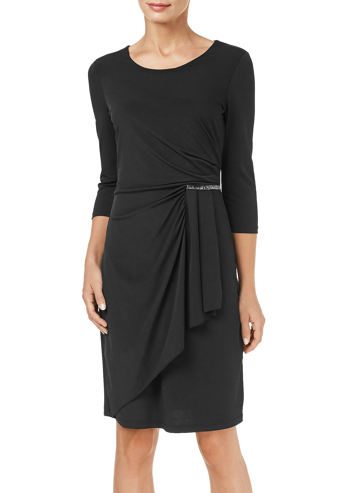Gerry Weber Wrap Panel Jersey Dress, Black