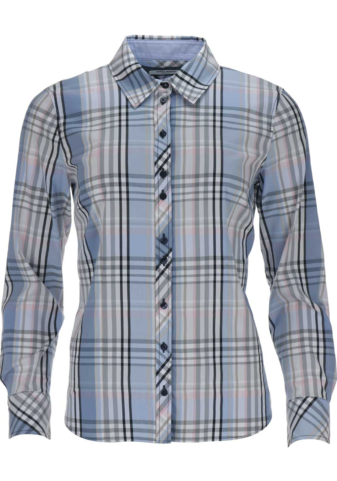 Gerry Weber Long Sleeve Check Shirt, Blue