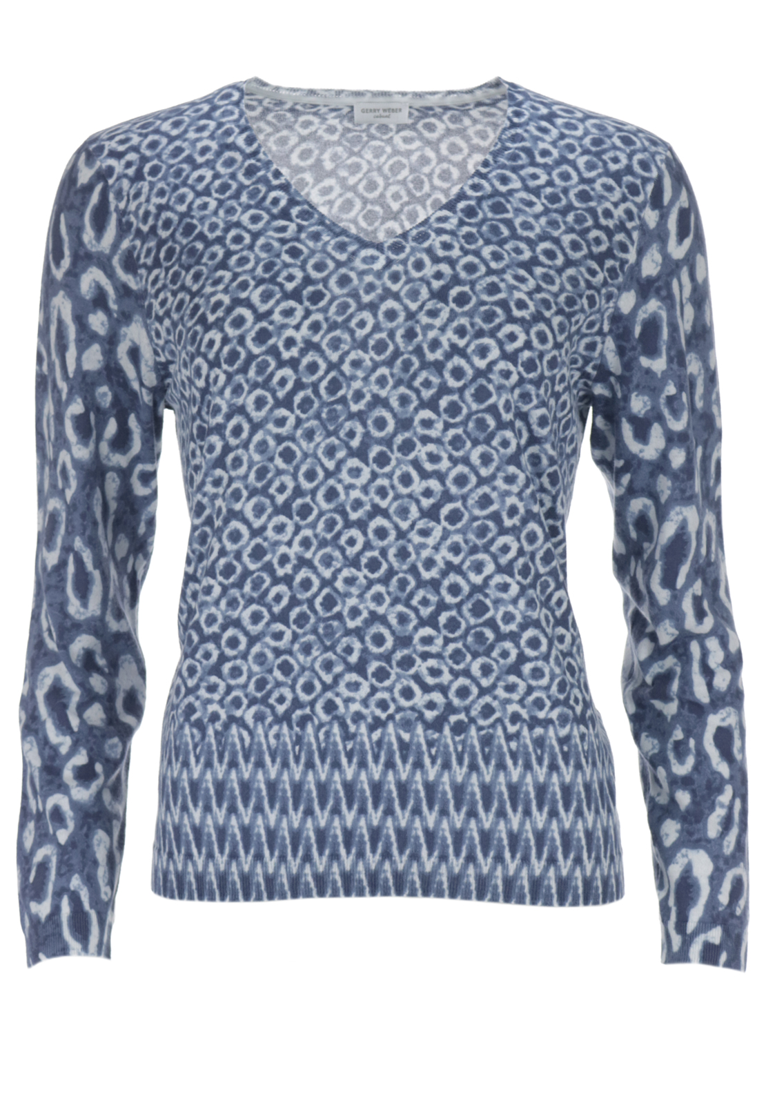 Gerry Weber Animal Printed Fine Knit Jumper,
