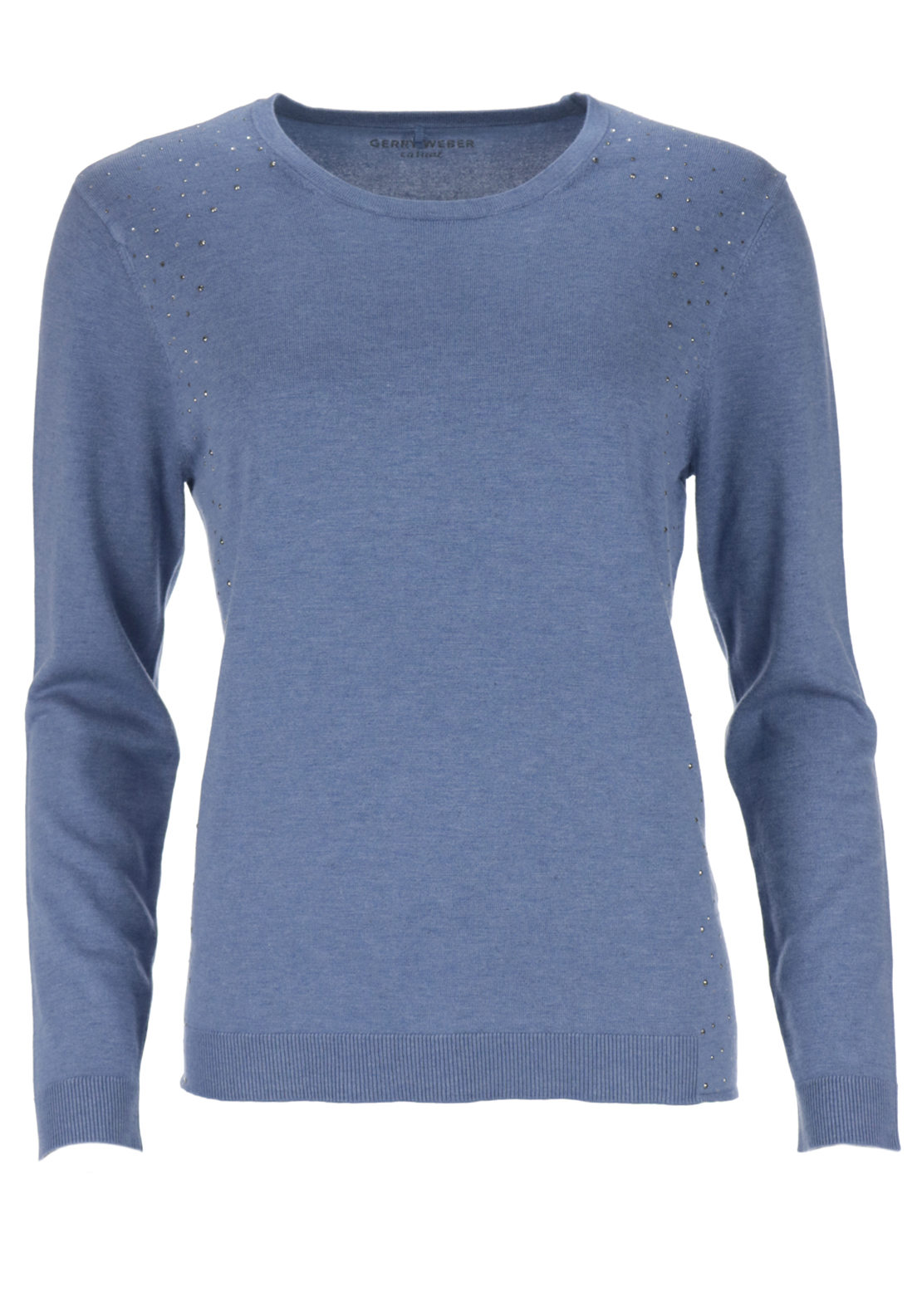 Gerry Weber Knitwear Jumper Studded Detail, Blue