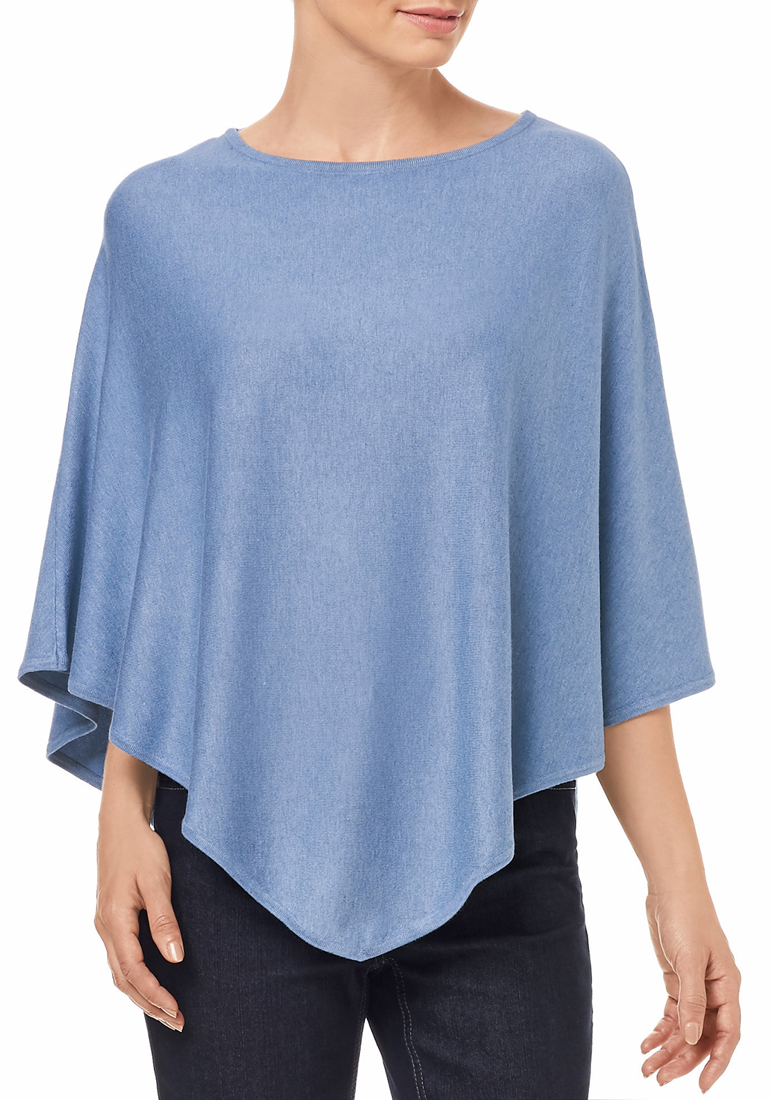Gerry Weber Triangle Shaped Poncho, Blue