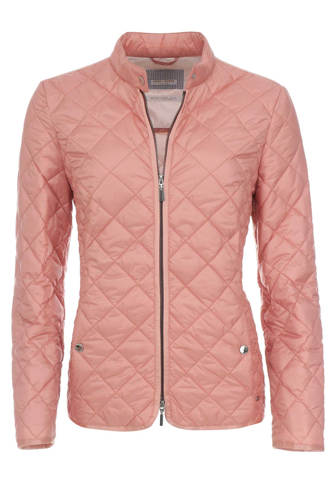 Gerry Weber Water Repellent Quilted Jacket, Peach