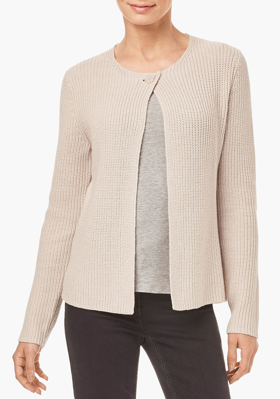 Gerry Weber Chunky Knit Cardigan, Cream