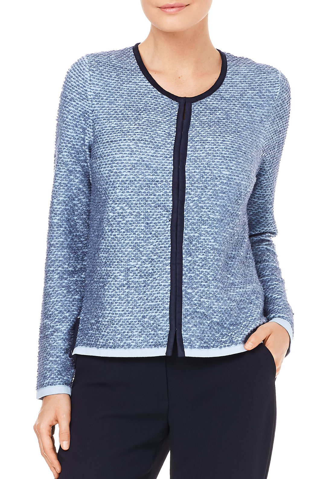 Gerry Weber Textured Cardigan, Blue
