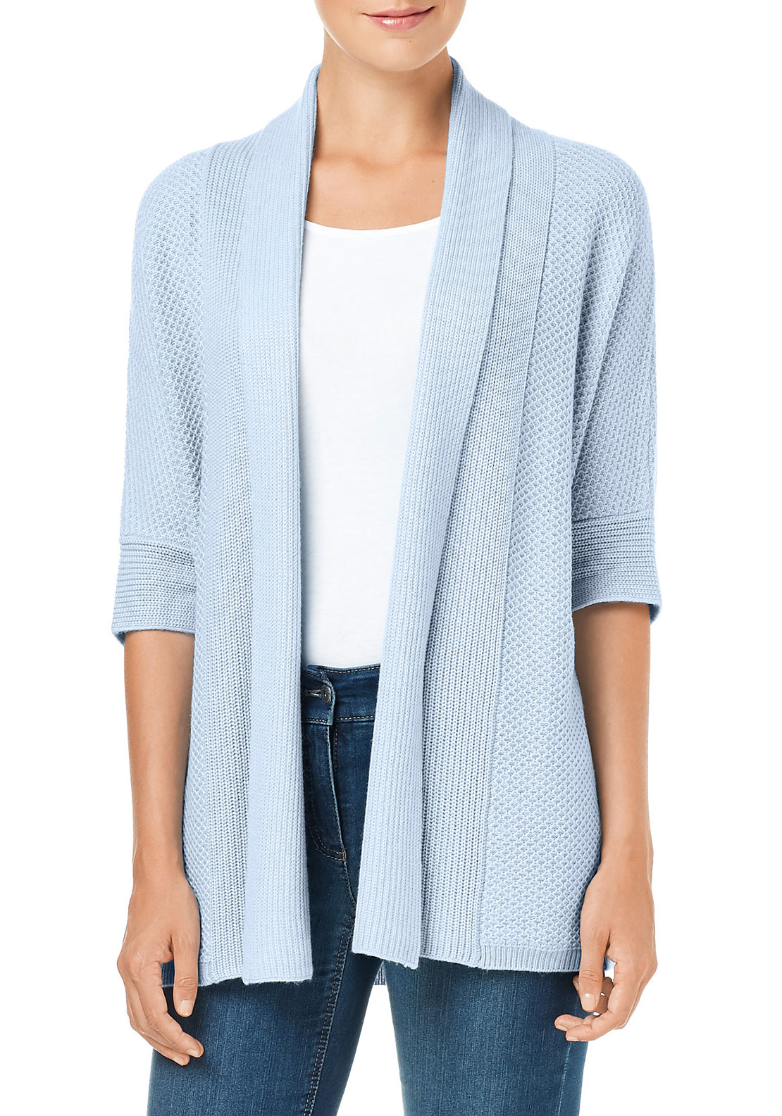 Gerry Weber Loose Fit Cardigan, Pale Blue