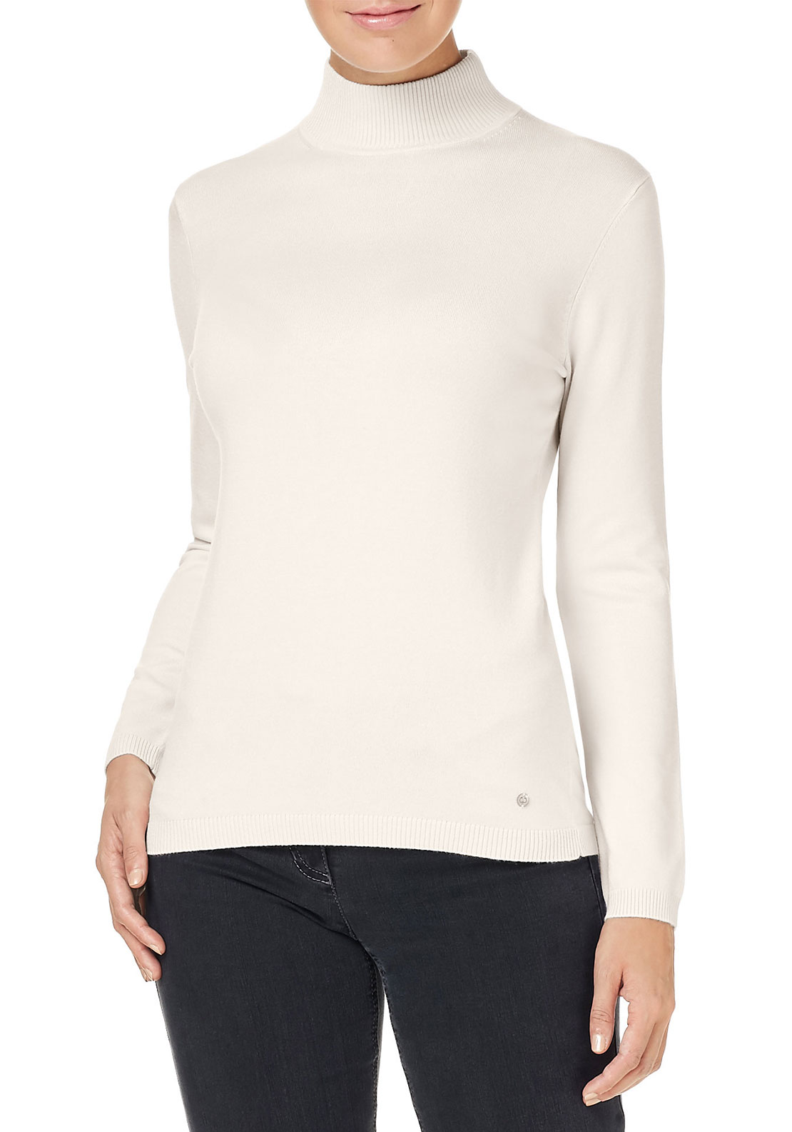 Gerry Weber High Neck Sweater, Cream
