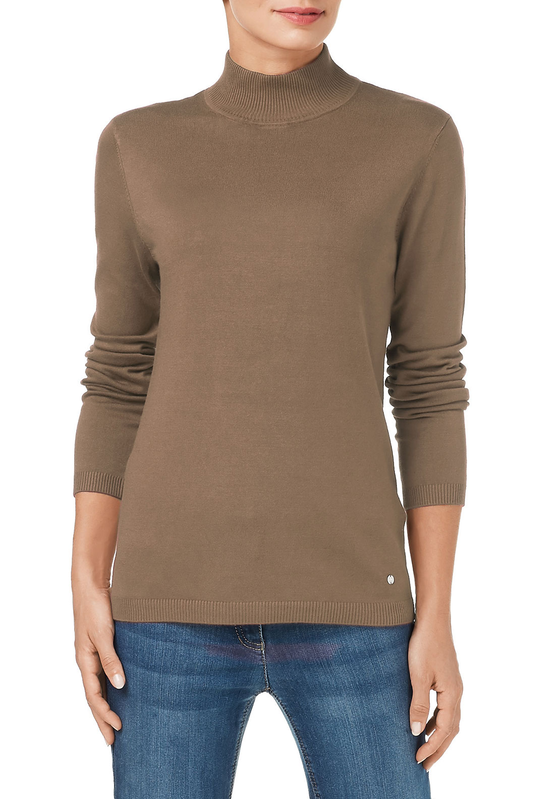 Gerry Weber High Neck Sweater, Beige