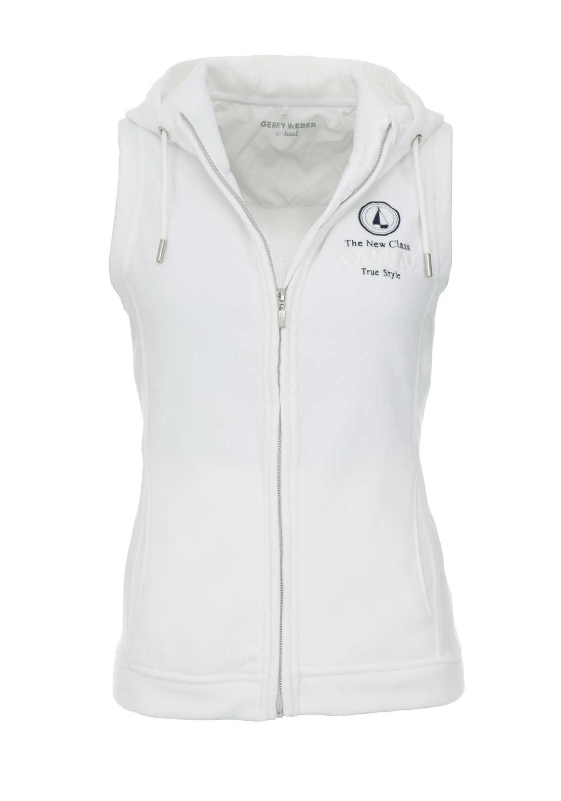 Gerry Weber Hooded Fleece Gilet, White