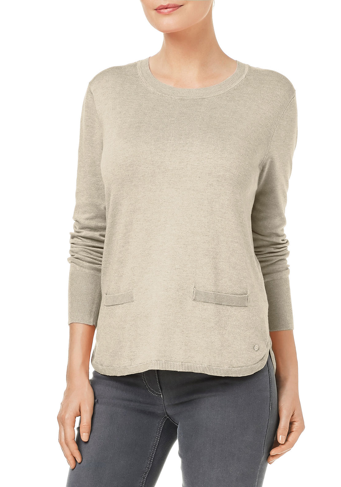 Gerry Weber Fine Knit Jumper, Cream
