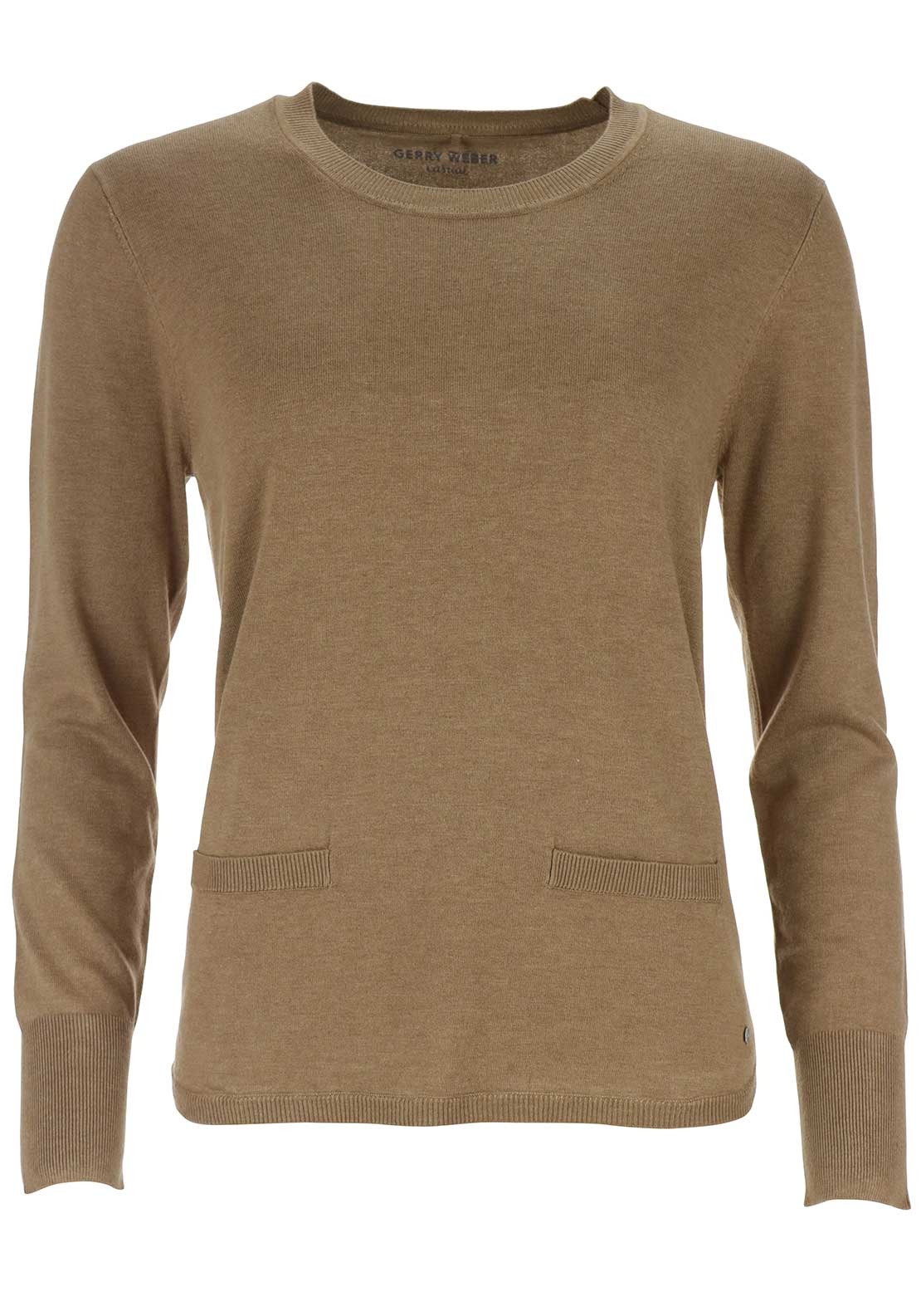 Gerry Weber Fine Knit Jumper, Light Brown