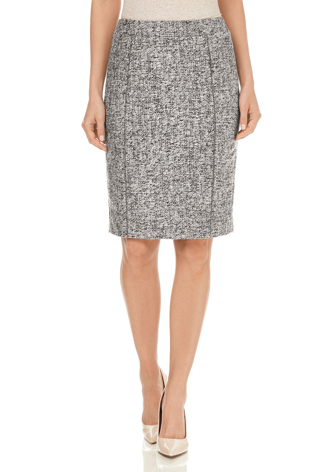 Gerry Weber Wool Blend Pencil Skirt, Grey