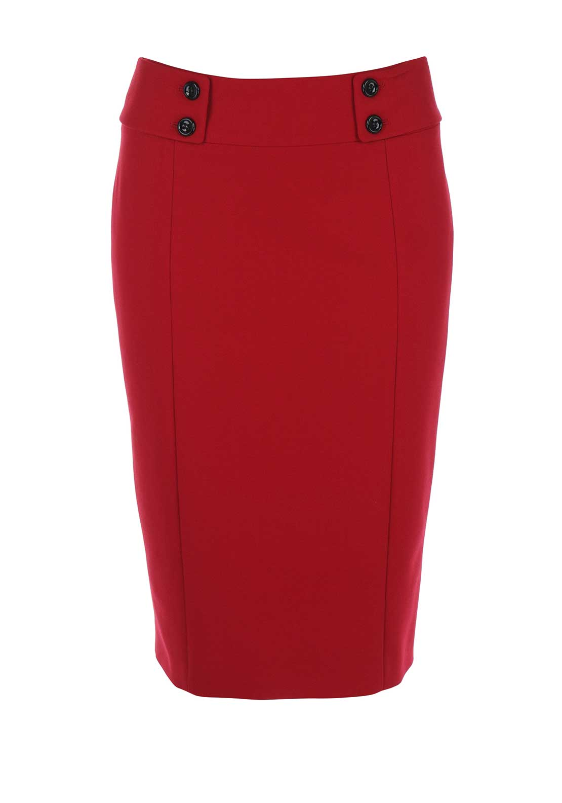 Gerry Weber Crepe Pencil Skirt, Red